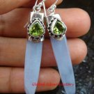 Sterling Silver Chalcedony Dangle Earring w/Gem ER-630-KT