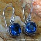 Sterling Silver and Blue Topaz Earrings ER-791-KA