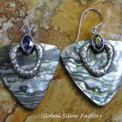 Silver and Paua Shell Earrings ER-798-KT