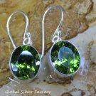 Sterling Silver and Peridot Gemstone Earrings ER-809-KT