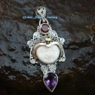 Silver & Mixed Gem Goddess Pendant GDP-1035-PS