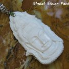 Silver and Carved Bone Budha Pendant BP-200-PS