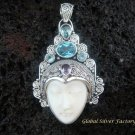925 Silver Blue Topaz Sajen Goddess Pendant GDP-726-PS