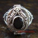 925 Silver Garnet Poison Ring LR-606-KT