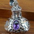925 Silver Amethyst Perfume Pendant PP-221-KT