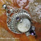 Amethyst and Silver Goddess Pendant GDP-1304-PS