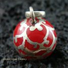 Sterling Silver Red Chime Ball Pendant 12mm CH-245-KT