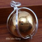 Sterling Silver Cage Chime Ball Pendant CH-254-KT