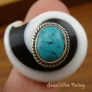 Sterling Silver Turquoise Shell Ring RI-192-KA