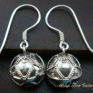 Sterling Silver Balinese Chime Ball Earrings CBE-128-KT