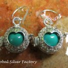 Silver Heart Design Harmony Ball Earrings CBE-154-KA