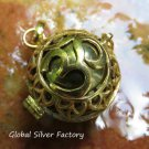 Silver and Gold Plated Om Design 24mm Chime Ball Pendant GPB-103-KT