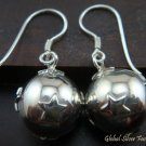 Sterling Silver Star Chime Ball Earrings CBE-122-KT