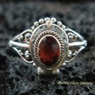925 Silver Garnet Locket Ring LR-525-KT