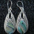 Sterling Silver Paua Abalone Shell Earrings ER-629-KT