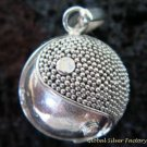 925 Silver Ying Yang 14mm Chime Ball Pendant CH-313-KT
