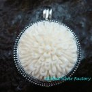 Hand made 925 Silver Carved Flower Locket Pendant LP-191-KA