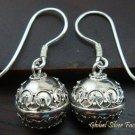 Sterling Silver Balinese Chiming Ball Earrings CBE