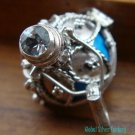 925 Silver & Topaz Blue Harmony Ball Pendant HB-254-KT