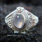 Silver Rainbow Moonstone Poison Ring LR-508-KT