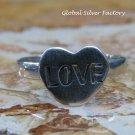 Sterling Silver Heart Ring SR-223-KA
