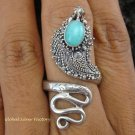 925 Silver Larimar Snake Ring RI-239-NY