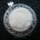 Silver Carved Fish Locket Pendant LP-231-KA