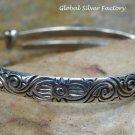 Sterling Silver Engraved Baby Bangle, Christening Bangle, Bay Gifts SBB-478-NY