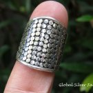 Sterling Silver Wide Band Ring SR-228-PS