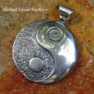 Round Sterling Silver Yin Yang Pendant SSP-160-PS
