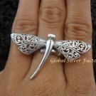 Adjustable Sterling Silver Dragonfly Ring SR-120-KT