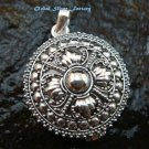 Silver Locket Prayer Box Pendant LP-184-IKP