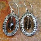 Sterling Silver & Smokey Quartz Earrings ER-834-NY