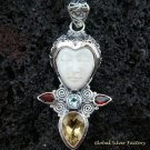925 Silver & Multi Gems Goddess Pendant GDP-936-PS
