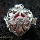 Sterling Silver Heart Harmony Ball Pendant HB-301-KT