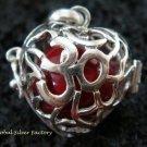 Sterling Silver Heart Harmony Ball Pendant HB-302-KT