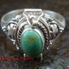 925 Silver Snowflake Turquoise Locket Ring LR-648-KT