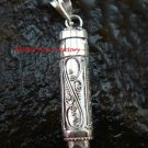 Sterling Silver Amethyst Cremation Pendant PP-351-PS