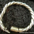 925 Silver Twist Rope Men's Bracelet 8mm MJ-102-PS