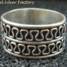 Sterling Silver Men, Women Wide band Spinner Ring SR-178-PS