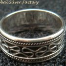 Sterling Silver Men, Women, Unisex Band Ring/ Spinner Ring SR-175-PS