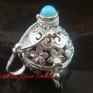 Sterling Silver Frangipani Harmony Ball Moonstone Pendant HB-349-KT
