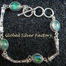 Sterling Silver Bracelet With Four Australian Triple Opals SBB-405-PS