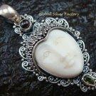 925 Silver Garnet & Peridot Goddess Pendant GDP-1085-NY