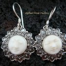925 Silver Moon Face Love Heart Goddess Earrings GDE-922-NY