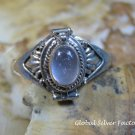 Silver and Rose Quartz Locket Ring LR-741-KT