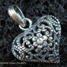 Vintage Style 925 Silver Bali Ornate Pendant SSP-124-KT