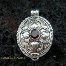 Sterling Silver Garnet Locket Pendant LP-180-KT