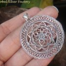 Sterling Silver Large Round Beaded Chakra Pendant SSP-156-KT