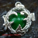 Green Flower Leaf Harmony Ball Pendant HB-323-KT